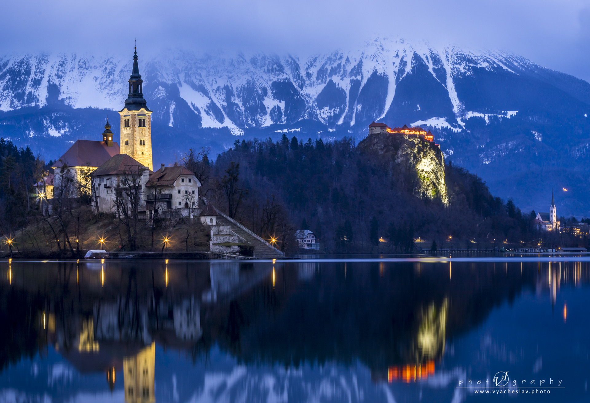 Night over Bled lake