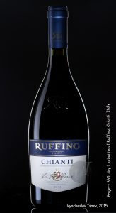 A bottle of Ruffino Chianti Italy
