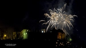 New year firework over Ljubljana castle.